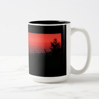 Puesta del sol del Día de la Independencia Tazas De Café