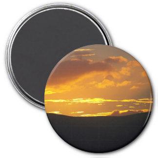 Puesta del sol del distrito del lago imán redondo 7 cm