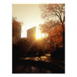Puesta del sol del edificio de Flatiron en New Yor Fotografías