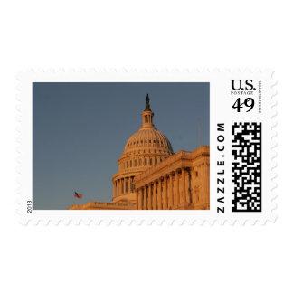 Puesta del sol del edificio del capitolio de los sellos