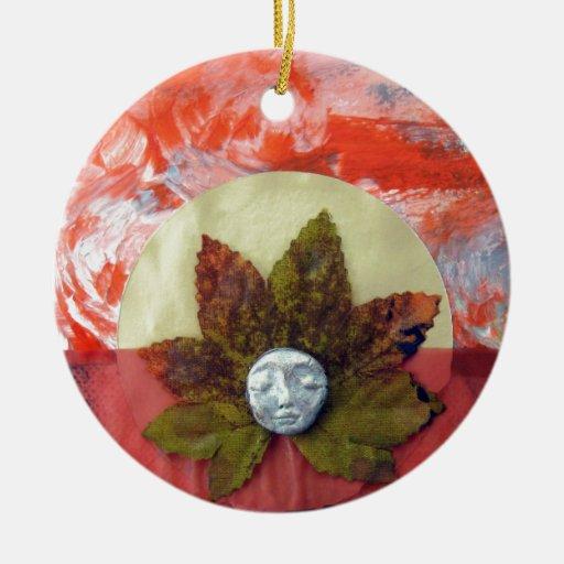 Puesta del sol del equinoccio otoñal - collage ornamentos de navidad