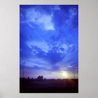 Puesta del sol del este de la ruta verde de Midlan Posters