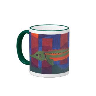 Puesta del sol del esturión taza de dos colores