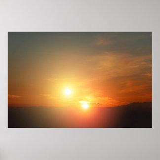 Puesta del sol del extranjero de NASAs Póster
