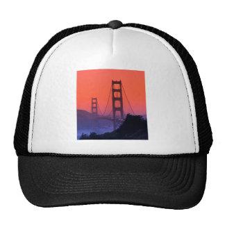 Puesta del sol del Golden Gate Gorras