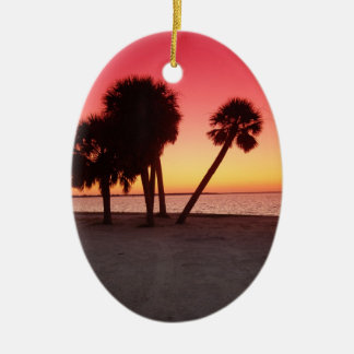 Puesta del sol del golfo de la Florida Ornamentos De Reyes Magos