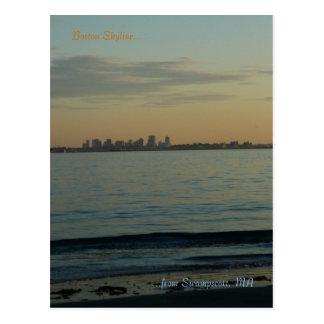 Puesta del sol del horizonte de Swampscott, mA de Postal