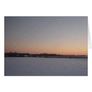 Puesta del sol del invierno # 1 tarjetas