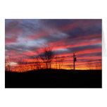 Puesta del sol del invierno en el Catskills Tarjeta De Felicitación