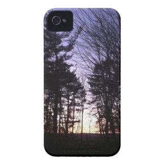 Puesta del sol del invierno iPhone 4 Case-Mate carcasa