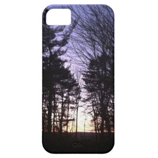 Puesta del sol del invierno iPhone 5 carcasa