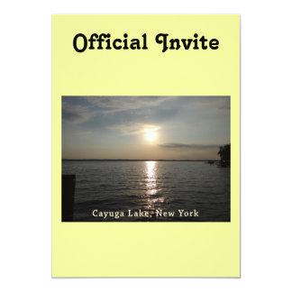 """Puesta del sol del lago Cayuga Invitación 5"""" X 7"""""""