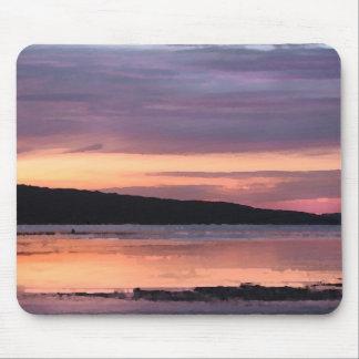 Puesta del sol del lago Cayuga Alfombrillas De Ratones