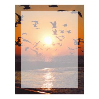 Puesta del sol del lago Erie Plantilla De Membrete