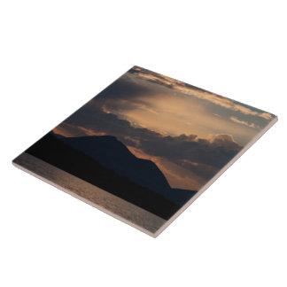 Puesta del sol del lago fish; Ningún texto Tejas Ceramicas