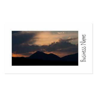 Puesta del sol del lago fish plantillas de tarjetas personales