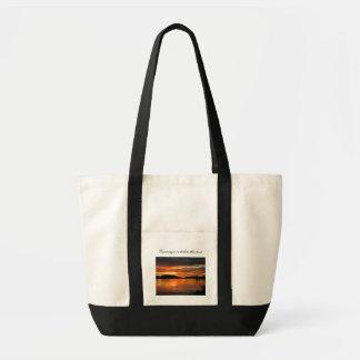 Puesta del sol del lago Fox; Personalizable Bolsa De Mano