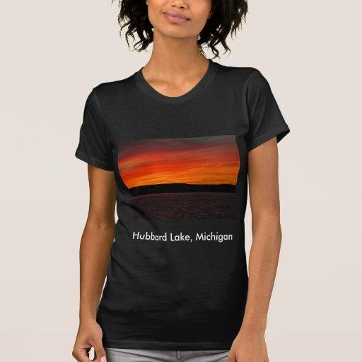 Puesta del sol del lago Hubbard Remera