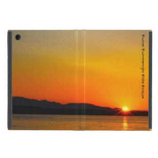 Puesta del sol del lago iPad mini cárcasas