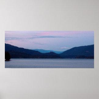 Puesta del sol del lago lost Creek Posters