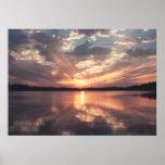 Puesta del sol del lago McKinney Poster