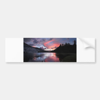 Puesta del sol del lago Merced - Yosemite - Pegatina Para Auto