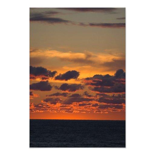 Puesta del sol del lago Michigan, Ludington, Michi