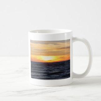Puesta del sol del lago Michigan Taza De Café