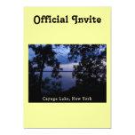 Puesta del sol del lago NY Cayuga Anuncios