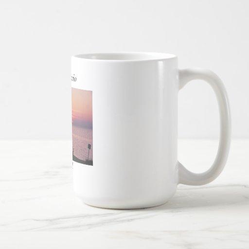 Puesta del sol del lago Ontario Tazas De Café