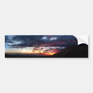 Puesta del sol del lago Ottoway - Yosemite - Pegatina Para Auto