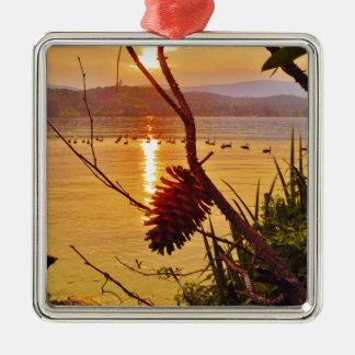 Puesta del sol del lago Pinecone