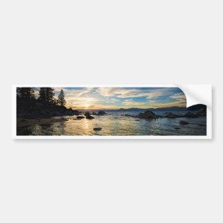 Puesta del sol del lago Tahoe Pegatina Para Auto