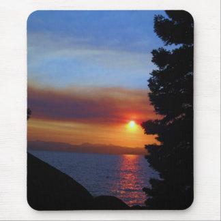 Puesta del sol del lago Tahoe Alfombrilla De Ratón