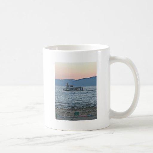 Puesta del sol del lago Tahoe Taza De Café