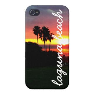 Puesta del sol del Laguna Beach iPhone 4 Carcasa