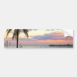 Puesta del sol del Lauderdale-por--Mar, la Florida Pegatina Para Auto