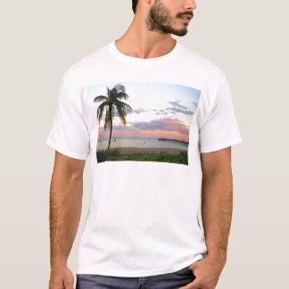 Puesta del sol del Lauderdale-por--Mar, la Florida Playera