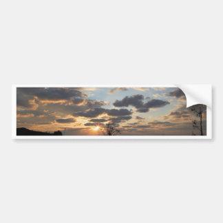 Puesta del sol del mar pegatina para auto