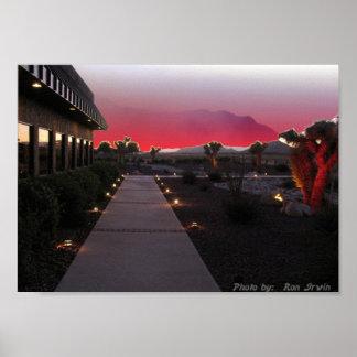 Puesta del sol del Mojave Póster
