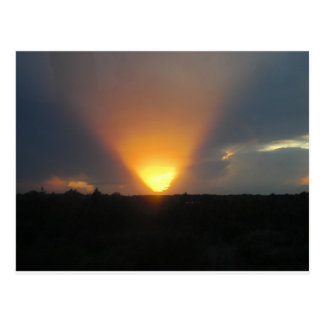 Puesta del sol del monorrail postales