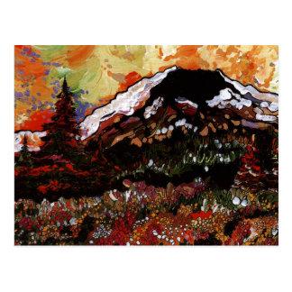 Puesta del sol del Mt St Helens Tarjeta Postal