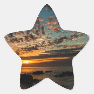 Puesta del sol del navidad calcomanía forma de estrella