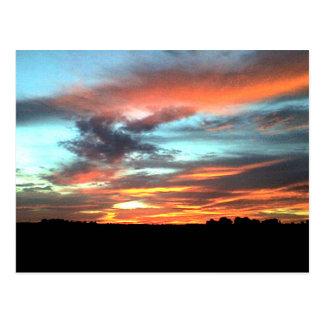 Puesta del sol del norte de Alabama Tarjetas Postales