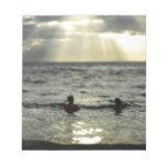 Puesta del sol del océano blocs