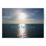 Puesta del sol del océano - consiga la tarjeta