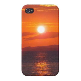 Puesta del sol del océano iPhone 4/4S carcasas