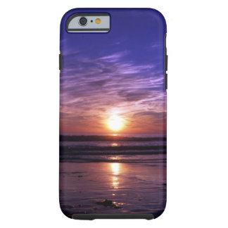 Puesta del sol del océano funda resistente iPhone 6