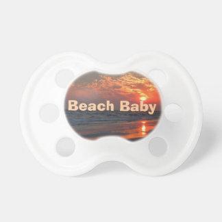 Puesta del sol del océano - isla del roble, NC Chupete De Bebé