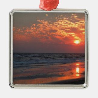 Puesta del sol del océano - isla del roble, NC Ornato